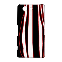 White, red and black lines Sony Xperia Z3 Compact