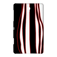 White, red and black lines Samsung Galaxy Tab S (8.4 ) Hardshell Case
