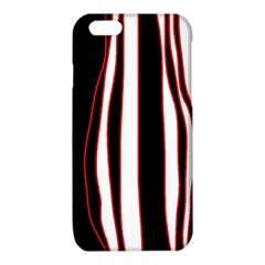 White, red and black lines iPhone 6/6S TPU Case