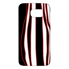 White, red and black lines Galaxy S6