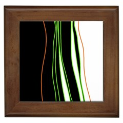 Colorful lines harmony Framed Tiles