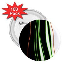 Colorful lines harmony 2.25  Buttons (100 pack)