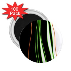 Colorful lines harmony 2.25  Magnets (100 pack)