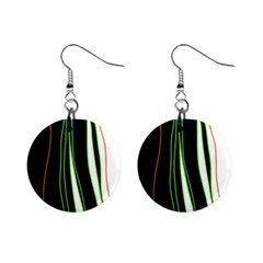 Colorful lines harmony Mini Button Earrings