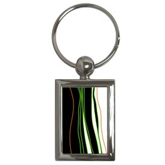 Colorful lines harmony Key Chains (Rectangle)