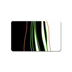 Colorful lines harmony Magnet (Name Card)