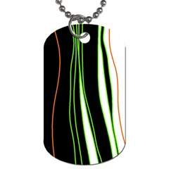 Colorful lines harmony Dog Tag (One Side)