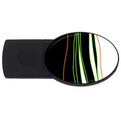 Colorful lines harmony USB Flash Drive Oval (1 GB)