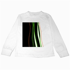 Colorful lines harmony Kids Long Sleeve T-Shirts