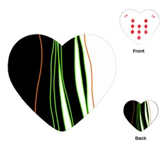 Colorful lines harmony Playing Cards (Heart)