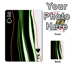Colorful lines harmony Playing Cards 54 Designs