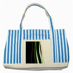 Colorful lines harmony Striped Blue Tote Bag
