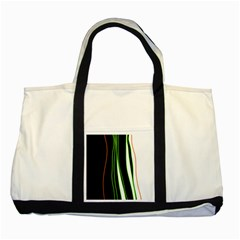 Colorful lines harmony Two Tone Tote Bag