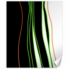 Colorful lines harmony Canvas 8  x 10