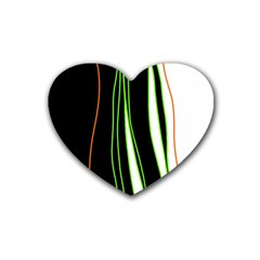 Colorful lines harmony Rubber Coaster (Heart)
