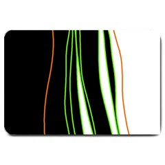 Colorful lines harmony Large Doormat