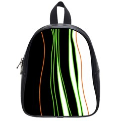 Colorful lines harmony School Bags (Small)