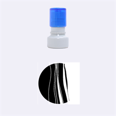 Colorful lines harmony Rubber Round Stamps (Small)