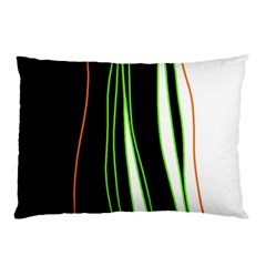 Colorful lines harmony Pillow Case (Two Sides)