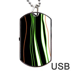 Colorful lines harmony Dog Tag USB Flash (One Side)