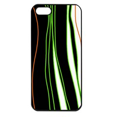 Colorful lines harmony Apple iPhone 5 Seamless Case (Black)