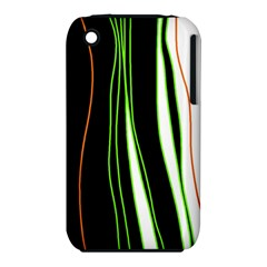 Colorful lines harmony Apple iPhone 3G/3GS Hardshell Case (PC+Silicone)