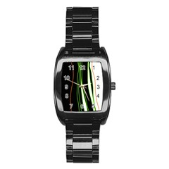 Colorful lines harmony Stainless Steel Barrel Watch