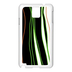 Colorful lines harmony Samsung Galaxy Note 3 N9005 Case (White)