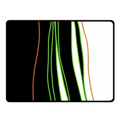 Colorful lines harmony Double Sided Fleece Blanket (Small)