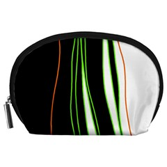 Colorful lines harmony Accessory Pouches (Large)