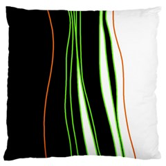 Colorful lines harmony Large Flano Cushion Case (One Side)