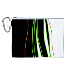 Colorful lines harmony Canvas Cosmetic Bag (L)