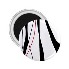 Red, white and black elegant design 2.25  Magnets