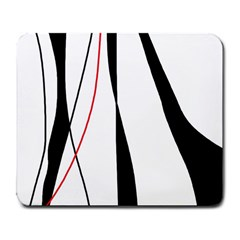 Red, white and black elegant design Large Mousepads