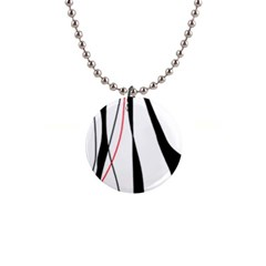 Red, white and black elegant design Button Necklaces