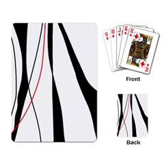 Red, white and black elegant design Playing Card