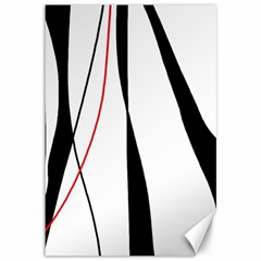 Red, white and black elegant design Canvas 12  x 18