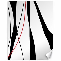 Red, white and black elegant design Canvas 18  x 24