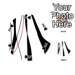 Red, white and black elegant design Playing Cards 54 (Round)