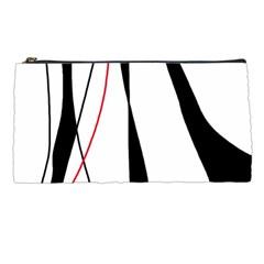 Red, white and black elegant design Pencil Cases