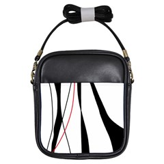 Red, white and black elegant design Girls Sling Bags