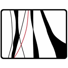 Red, white and black elegant design Fleece Blanket (Large)