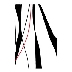 Red, white and black elegant design Shower Curtain 48  x 72  (Small)