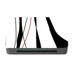Red, white and black elegant design Memory Card Reader with CF