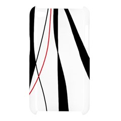 Red, white and black elegant design Apple iPod Touch 4