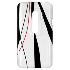Red, white and black elegant design HTC Evo 3D Hardshell Case
