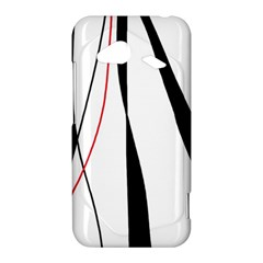 Red, white and black elegant design HTC Droid Incredible 4G LTE Hardshell Case