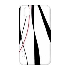 Red, white and black elegant design LG Optimus P970