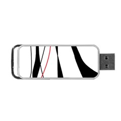 Red, white and black elegant design Portable USB Flash (Two Sides)