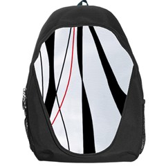 Red, white and black elegant design Backpack Bag